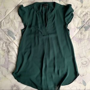 Dark Green Blouse from JCrew